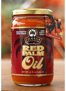 Jungle red palm oil